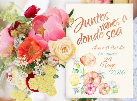 Invitación Acuarela Aguaverde