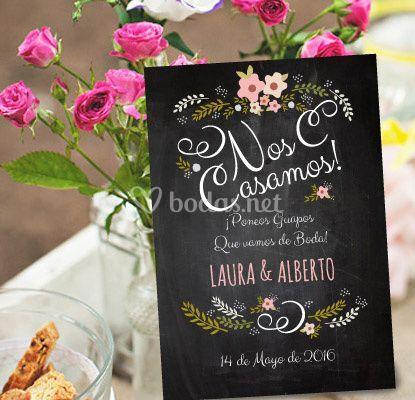 Invitación Chalk Rose