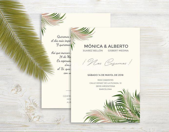 Invitación Palm