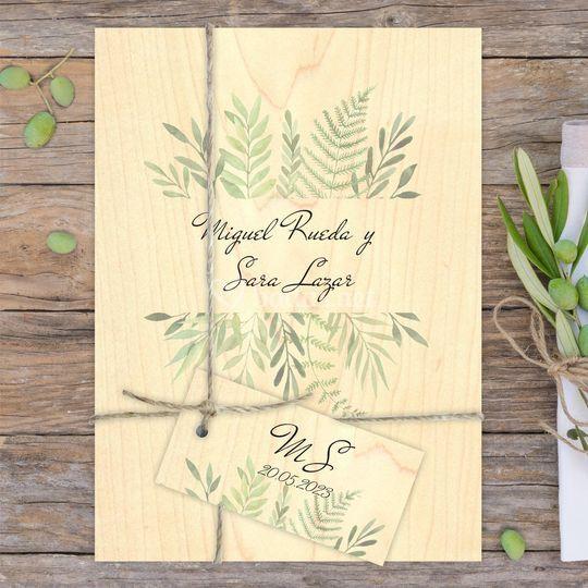 Wood hojas - madera natural
