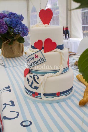 Tarta de boda marinera