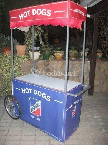 Carrito hot dogs