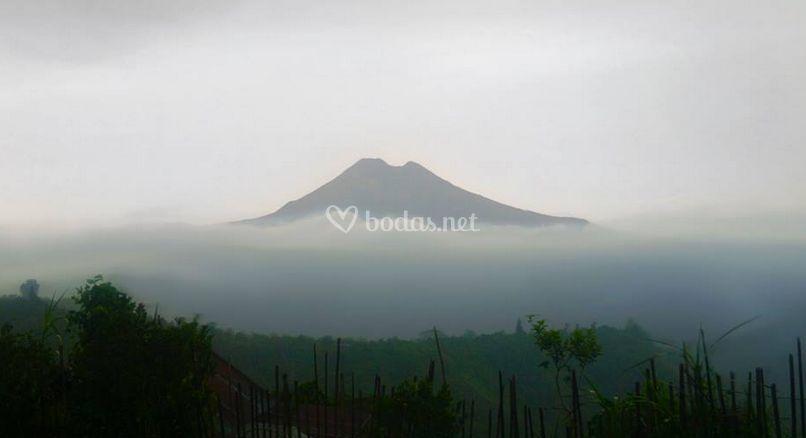 Volcán en Bali