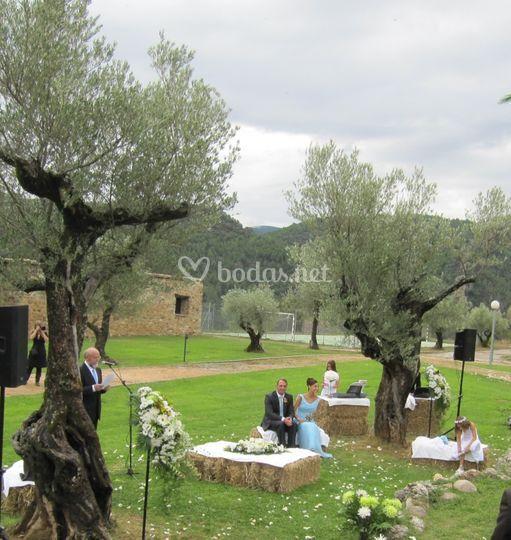 Ceremonia Rústica en jardin