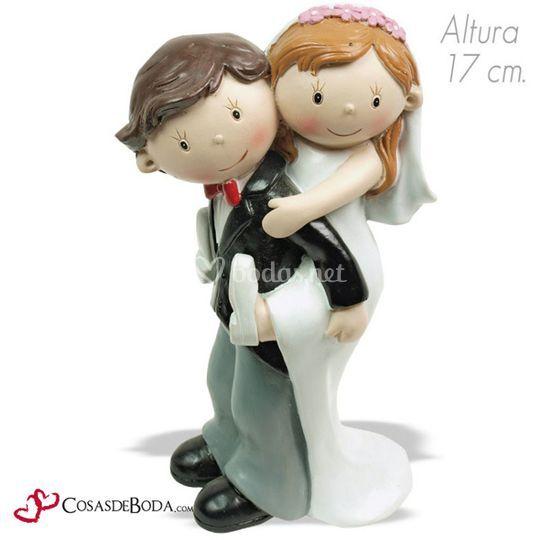 Figura pastel boda caballito de Cosasdeboda