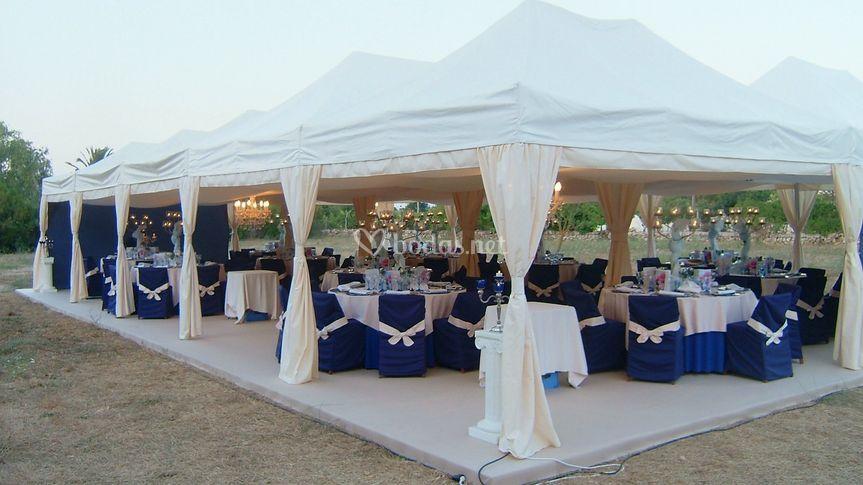 Cena de gala para 100 personas con carpa