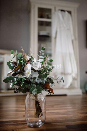 Detalle de ramo de novia