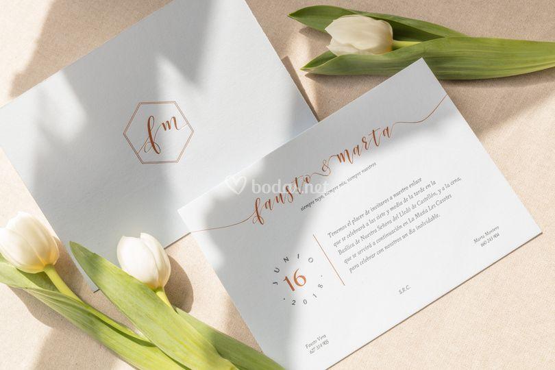 Invitaciones con letterpress