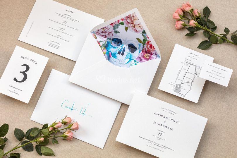 Invitaciones con color