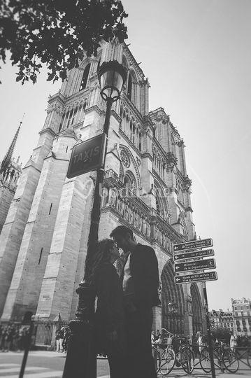 Gentzane y Arnaud en Paris