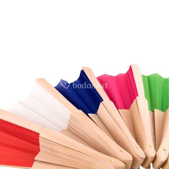Abanicos de colores