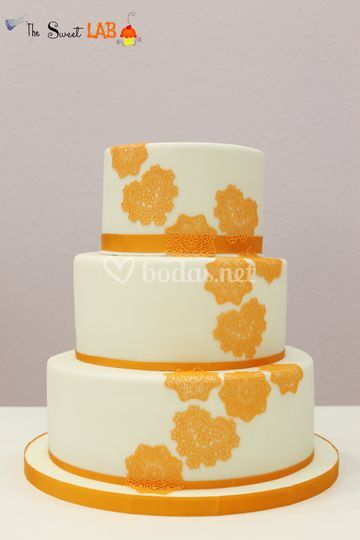 Tarta de boda naranja