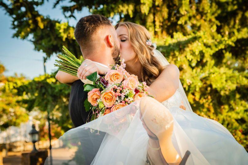 Nuestro beso de recién casados