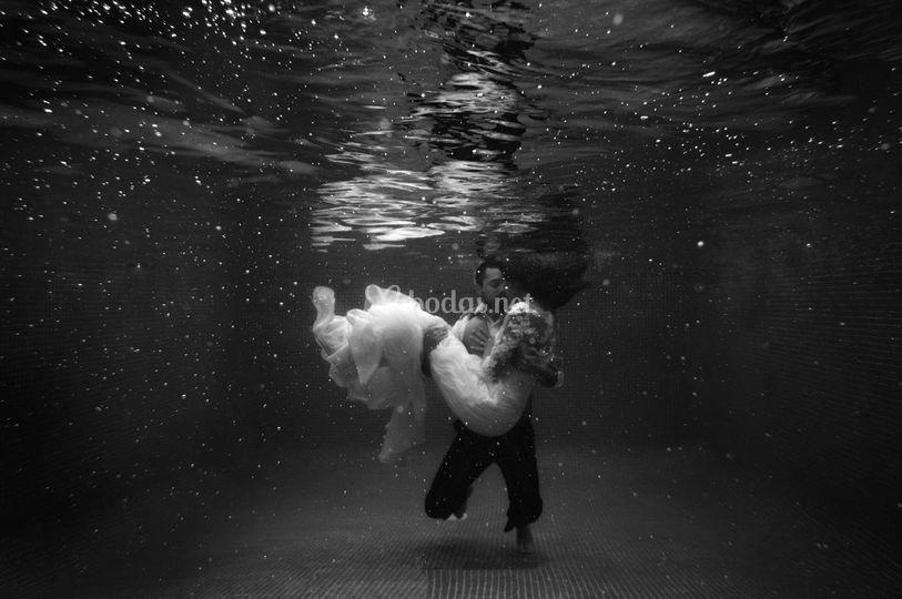 Post boda bajo el agua