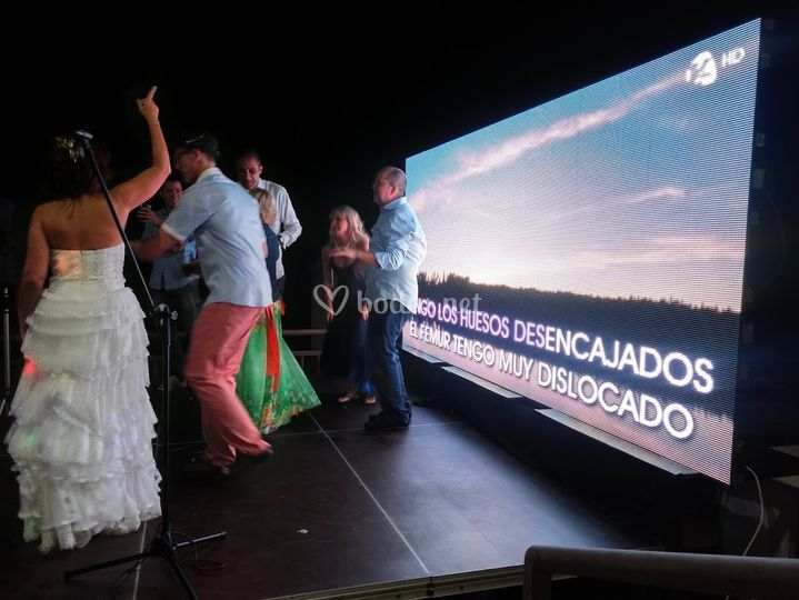 Karaoke pantalla Led gigante