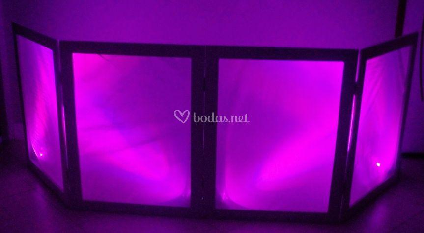 Detalle de biombo LED