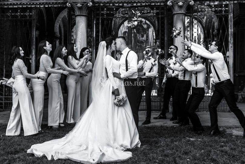 Los testigos en la boda