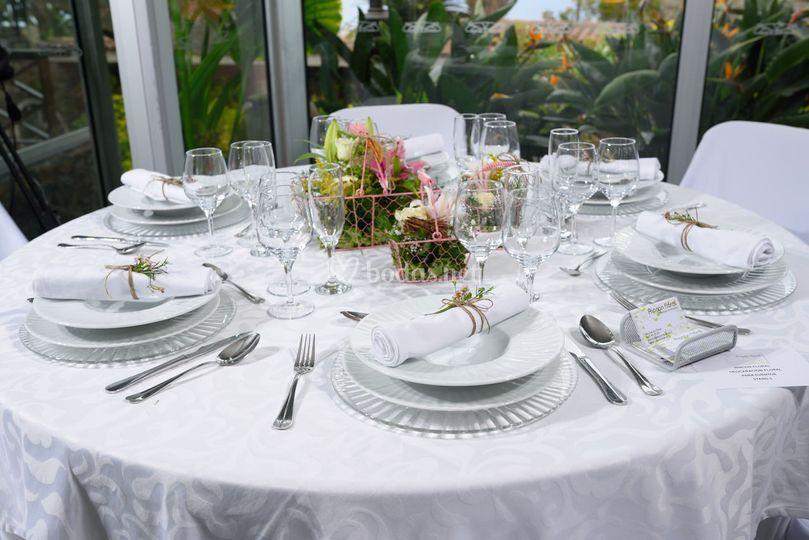 Composición de la mesa