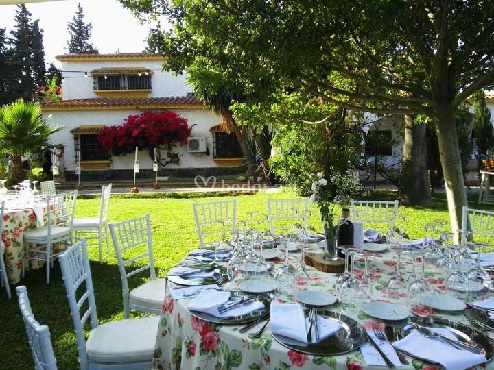La casa desde el banquete