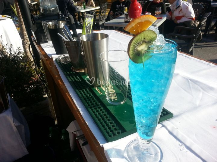 Cóctel blue sensation