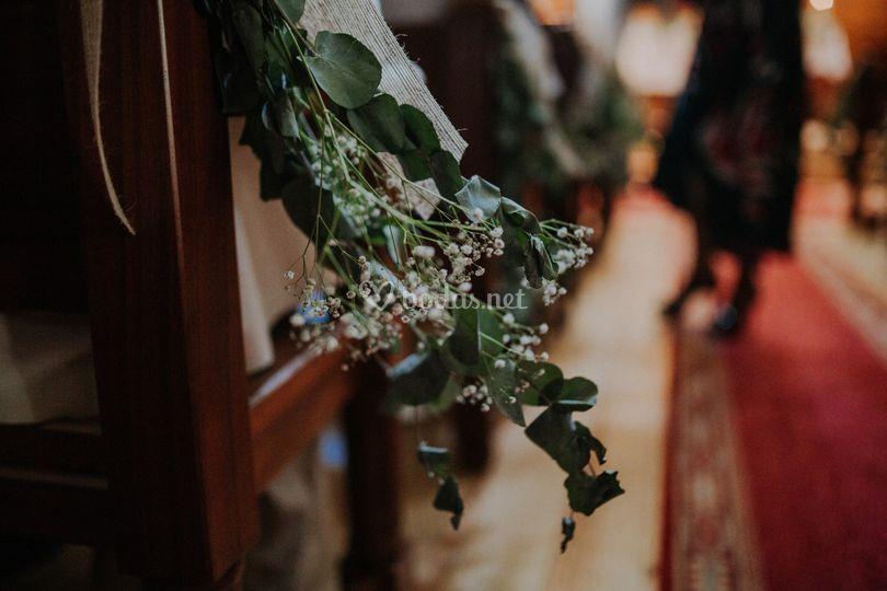 Decoración de la ceremonia
