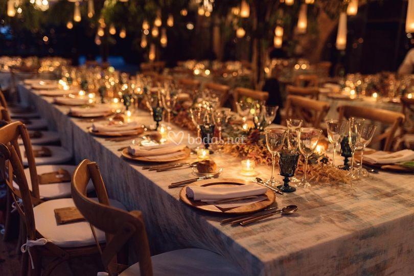Iluminación de la cena