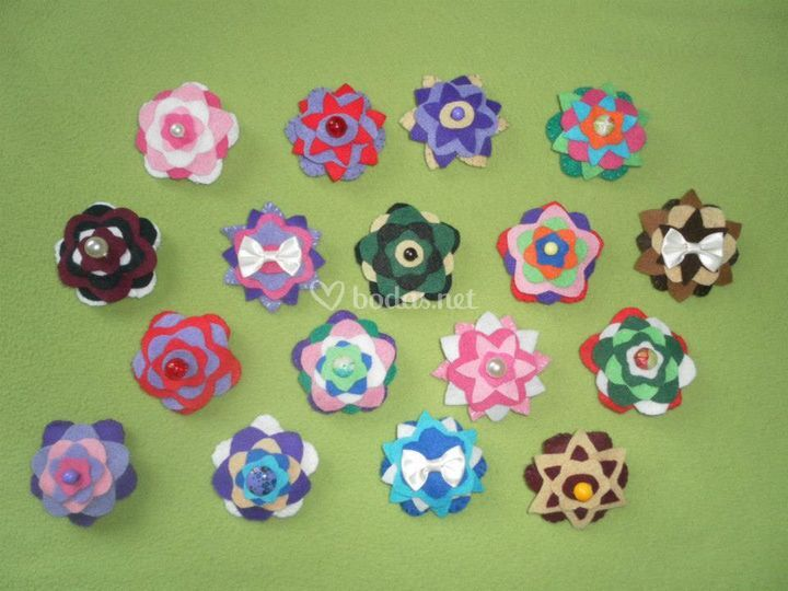 Broches de colores