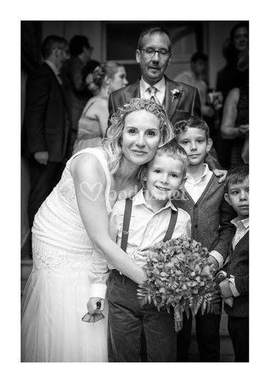 La novia con sus invitados