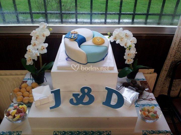 Pastel de boda J&D