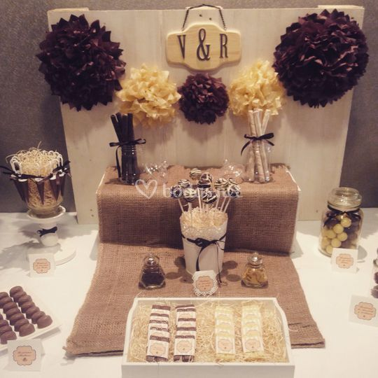 Mesa dulce Love chocolat