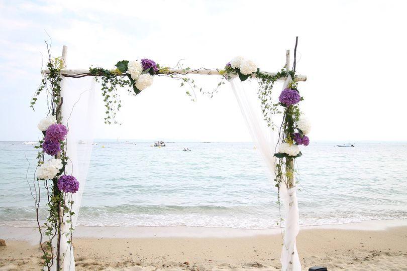 Arco ceremonia boho playa