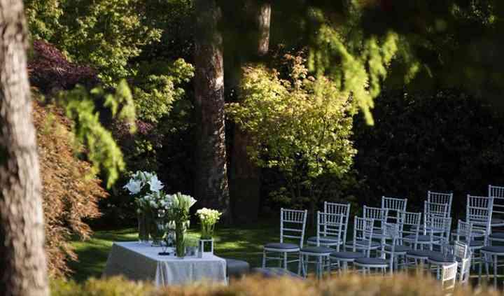 Ceremonia en jardín arces