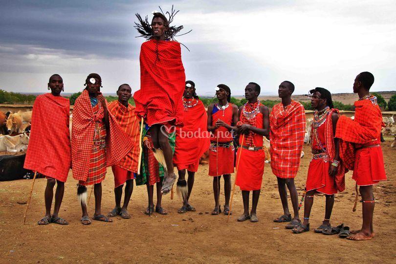 Poblado Masai en Tanzania