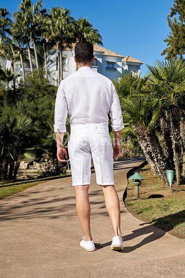 Pantalón de lino corto