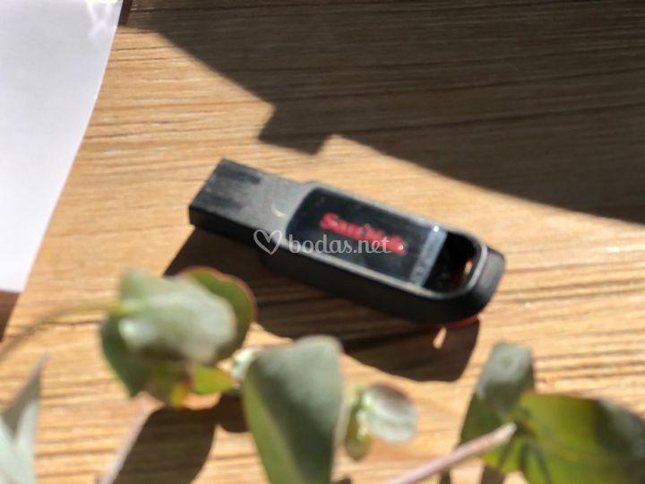Tus mensaje en el USB
