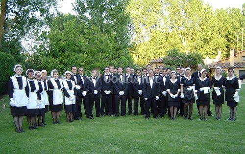 Servicio de camareros y doncellas