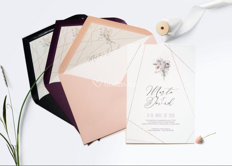 Invitación original elegante