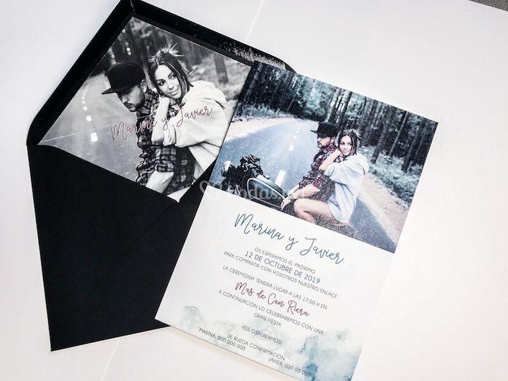 Invitación con foto
