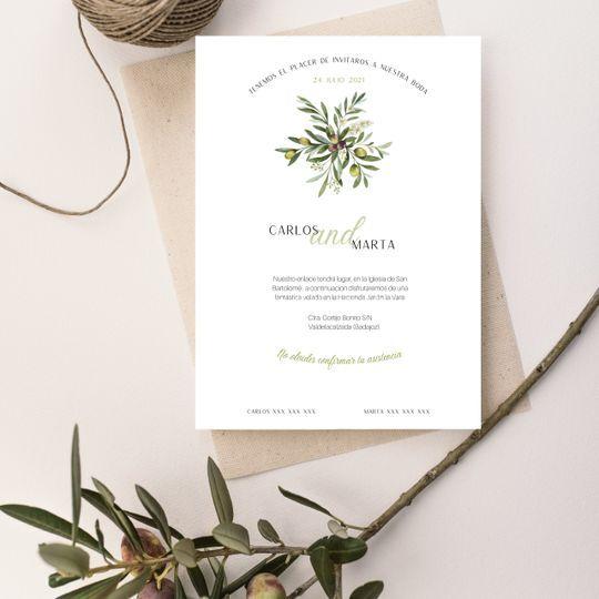Invitación Olive