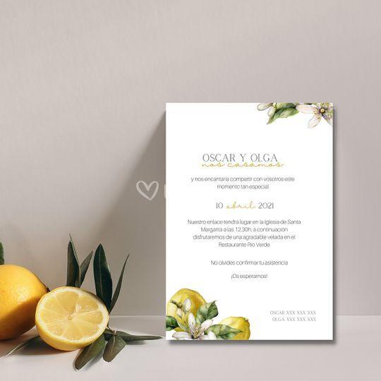 Invitación Lemon