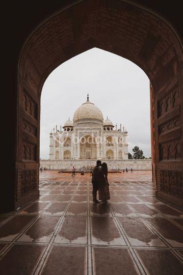 Novios en Agra
