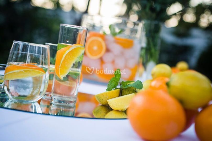 Aguas minerales refrescantes