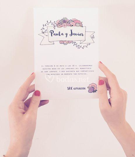 Invitación peonías
