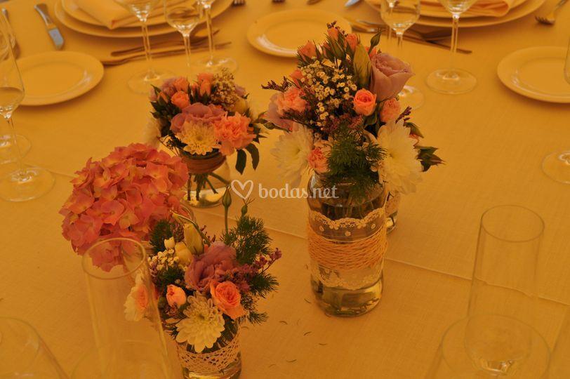 Decoración floral de mesa