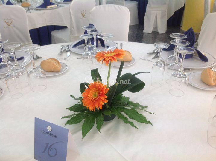 Centro de la mesa del banquete