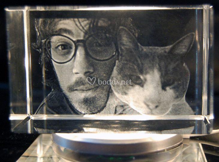 Chico y su gato 3D