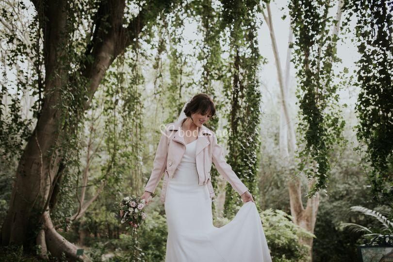 Novia chaqueta Jardín Botánico