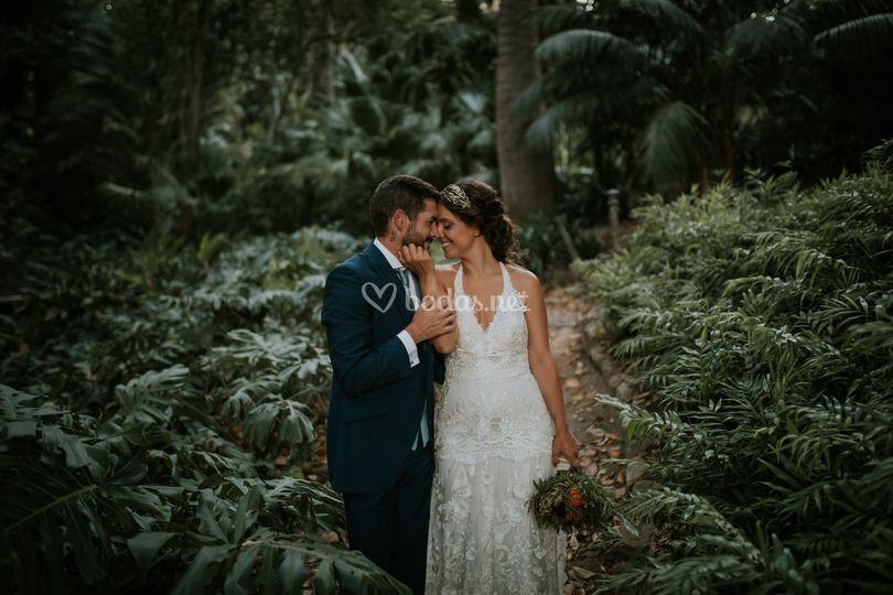 Posados de boda en Jardín Botánico