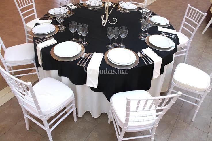 Mesas montaje bodas