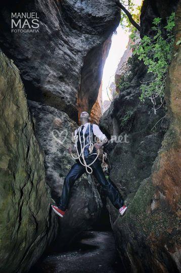 Un novio escalador